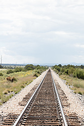 old railroad tracks in New Mexico