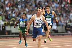 August 4, 2017 - London, United Kingdom - Ján VOLKO, Slovakia, during 100 meter preliminary round  at London Stadium in London on August 4, 2017 at the 2017 IAAF World Championships athletics. (Credit Image: © Ulrik Pedersen/NurPhoto via ZUMA Press)