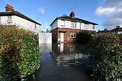 © Licensed to London News Pictures. Date 9 Jan 2014. Oxford. Abingdon Road. River Thames floods at Oxford causing the closure of the Abingdon and Botley roads.. Photo credit : MarkHemsworth/LNP