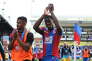 A dejected Wilfred Zaha applaudes the home support after the Barclays Premier League match between Crystal Palace and Manchester City at Selhurst Park, London, England on 12 September 2015. Photo by Michael Hulf.