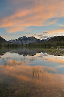 Pettit Lake in evening afterglow, Sawtooth National Recreation Area Idaho