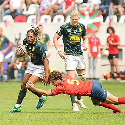 Justin Geduld of South Africa during the match between South Africa and Spain at the HSBC Paris Sevens, stage of the Rugby Sevens World Series at Stade Jean Bouin on June 10, 2018 in Paris, France. (Photo by Sandra Ruhaut/Icon Sport)