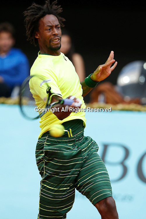 06.05.2015. Madrid, Spain, Madrid Open Tennis Tournament. Match played between Gael MONFILS (FRA) and Marcel GRANOLLERS (ESP) Gael MONFILS during match from La Caja Magica..