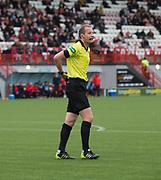 29th September 2018, Hope CBD Stadium, Hamilton, Scotland; Ladbrokes Premiership football, Hamilton versus Dundee; Referee Willie Collum