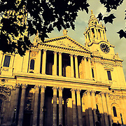 St. Pauls bathed in summer evening sun.<br />