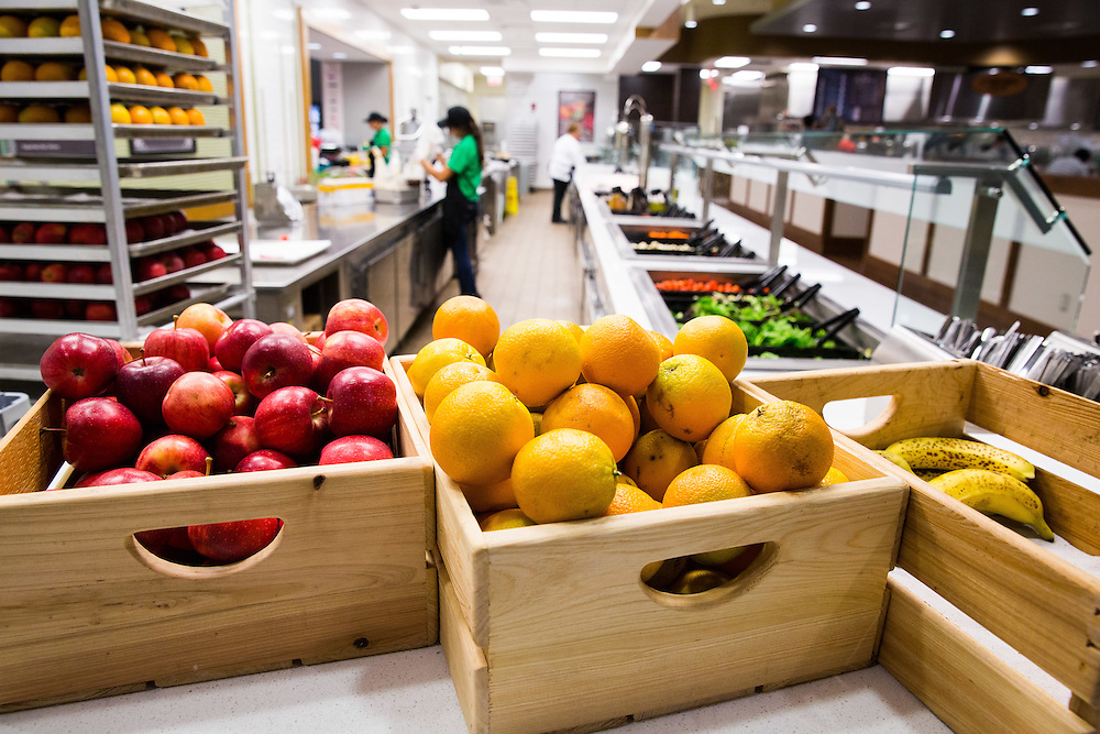Fresh fruit served at the newly renovated Boyd Dinning Hall.
