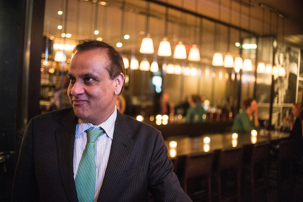 Photo by Matt Roth<br /> Assignment ID: 30142124A<br /> <br /> Restauranteur Ashok Bajaj stops at Ardeo Bardeo while making the nightly rounds of his restaurants in Washington, D.C. on Thursday, May 09, 2013.