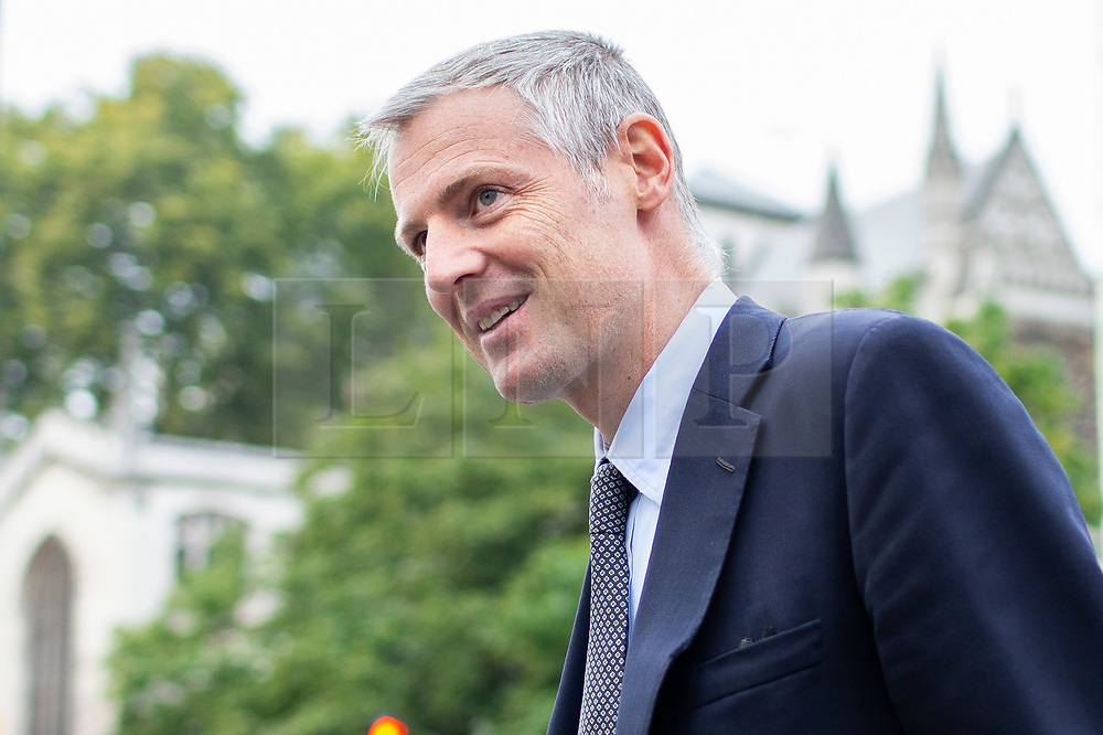 © Licensed to London News Pictures. 03/10/2019. London, UK. Minister of State at the Department for Environment, Food and Rural Affairs Zac Goldsmith arrives at Parliament . Later today Prime Minster Boris Johnson will make a statement in the House of Commons.  Photo credit: George Cracknell Wright/LNP