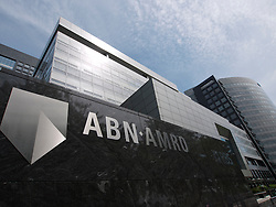Headquarters of ABN AMRO Bank in modern business district at Amsterdam Zuid in The Netherlands