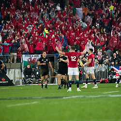 Conor Murray kicks for touch to end game Lions win 24-21 during game 9 of the British and Irish Lions 2017 Tour of New Zealand, the second Test match between  The All Blacks and British and Irish Lions, Westpac Stadium, Wellington, Saturday 1st July 2017<br /> (Photo by Kevin Booth Steve Haag Sports)<br /> <br /> Images for social media must have consent from Steve Haag