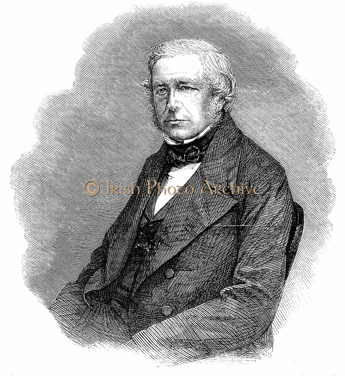 John Stevens Henslow (17906-1861) English botanist, geologist and clergyman. Professor of Botany at Cambridge from 1827. Charles Darwin his friend and favourite pupil. Wood engraving from 'The Illustrated London News', 22 June 1861.