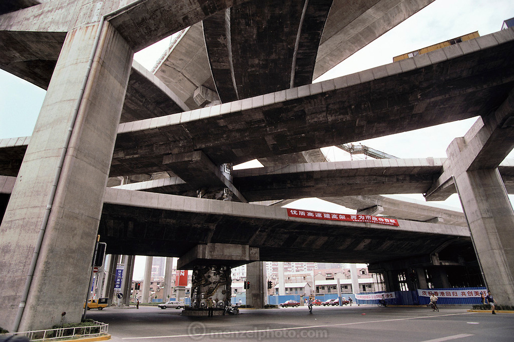 New highway construction. Shanghai, China.