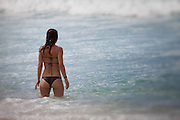 Brunette Bikini Girl in the Ocean