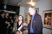 Wendy Shaw and Pete Martin,  Jonathan Poole and Fiona Worthington host an exhibition of originals and prints by Ronnie Wood. Gallery 27. Cork St. London. 6 March 2007. -DO NOT ARCHIVE-© Copyright Photograph by Dafydd Jones. 248 Clapham Rd. London SW9 0PZ. Tel 0207 820 0771. www.dafjones.com.