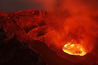Nyiragongo Volcano  Crater with Lava Lake  Congo
