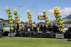 Monday 17th October 2016.<br /> Grand Parade & Greenpoint Athletics Stadium, Cape Town,<br /> Western Cape, South Africa.<br /> <br /> Cape Town Honours South African Olympic And Paralympic Heroes<br /> <br /> A general view of the stage area during the event at Greenpoint Athletics Stadium.<br /> <br /> Cape Town honours the South African Olympic and Paralympic heroes during a special celebratory event held in Cape Town, Western Cape, South Africa on Monday 17 October 2016.<br /> <br /> Picture By: Mark Wessels / Real Time Images.