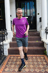 © Licensed to London News Pictures. 21/06/2019. London, UK.  Environment Secretary Michael Gove seen leaving his west London home to go jogging today. Yesterday Mr Gove was elimintated from the Conservative Party leadership election after receiving the fewest number of votes from MP's, leaving Boris Johnson and Jeremy Hunt as the final two contenders to battle it out to become leader of the Conservative Party and Prime Minister. Photo credit: Vickie Flores/LNP