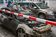 burnt-out car, Berlin-Kreuzberg