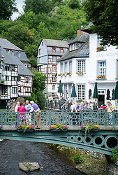 Historic village of Monschau in Eifel Region of Germany