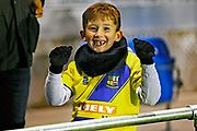 Solihull Moors fan before the The FA Cup match between Solihull Moors and Rotherham United at the Automated Technology Group Stadium, Solihull, United Kingdom on 2 December 2019.
