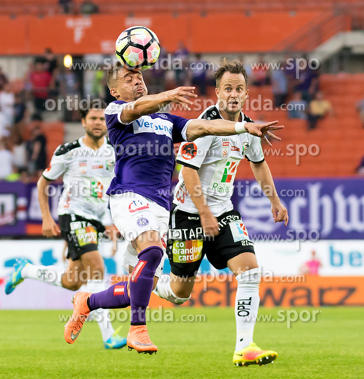10.09.2016, Ernst Happel Stadion, Wien, AUT, 1. FBL, FK Austria Wien vs RZ Pellets WAC, 7. Runde, im Bild Lucas Venuto (FK Austria Wien), Christian Klem (RZ Pellets WAC)// during Austrian Football Bundesliga 7th round match between FK Austria Vienna and RZ Pellets WAC at the Ernst Happel Stadion, Vienna, Austria on 2016/09/10, EXPA Pictures © 2016, PhotoCredit: EXPA/ Sebastian Pucher