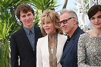Actor Paul Dano, Actress Jane Fonda,<br /> Harvey Keitel, Actress Rachel Weisz, at the Youth film photo call at the 68th Cannes Film Festival Tuesday May 20th 2015, Cannes, France.