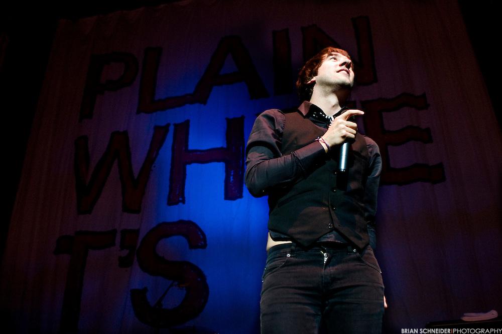Plain White T's frontman Tom Higgenson performs at Littlejohn Coliseum in Clemson, SC.