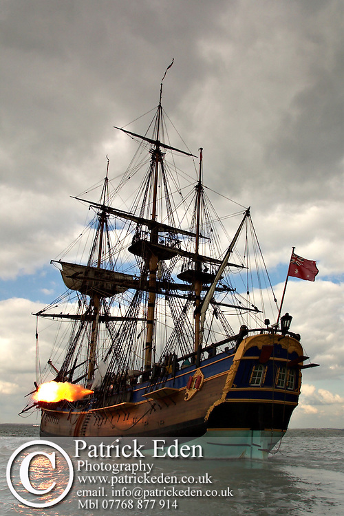 Replica of James Cook's Barque Endeavour Cowes Photographs of the Isle of Wight by photographer Patrick Eden photography photograph canvas canvases