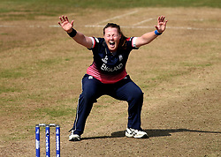 Anya Shrubsole of England Women appeals for an LBW - Mandatory by-line: Robbie Stephenson/JMP - 09/07/2017 - CRICKET - Bristol County Ground - Bristol, United Kingdom - England v Australia - ICC Women's World Cup match 19