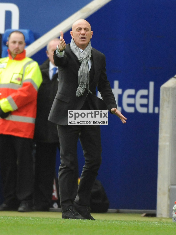 Watford Manager Giuseppe Sannino, Leicester City v Watford, Sky Bet Championship, Saturday 8th Febuary 2014