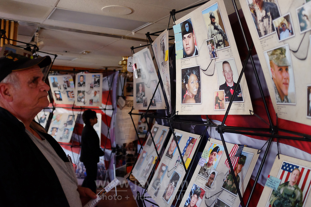"Veterans and their families gathered on Sunday, October 18th at Seaside's American Legion Post 591 for a somber ceremony marking the arrival of ""Remembering Our Fallen,"" a traveling exhibit of photographs and memories honoring over 700 fallen California veterans."