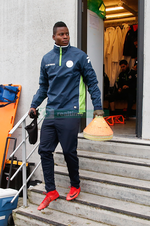December 6, 2017 - Waregem, BELGIUM - Essevee's Idrissa Doumbia arrives for a training session of Belgian first league soccer team Zulte Waregem, Wednesday 06 December 2017. Tomorrow Zulte plays the sixth and last game of the group stage (Group K) of the UEFA Europa League competition against Italian Lazio Roma. BELGA PHOTO BRUNO FAHY (Credit Image: © Bruno Fahy/Belga via ZUMA Press)