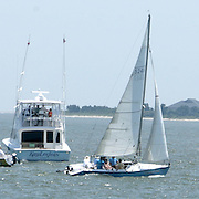 Boats compete in the Cape Fear Yacht Club/State Port Pilot Commodore's Regatta Friday July 4, 2014 in Southport, N.C. (Jason A. Frizzelle)