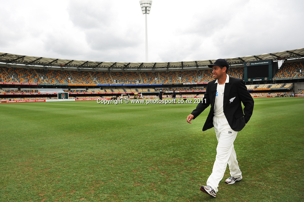 New Zealand Cricket captain Ross Taylor at the Gabba ahead of the first cricket test in Brisbane tomorrow. Wednesday 30 November 2011. Photo: Andrew Cornaga/Photosport.co.nz