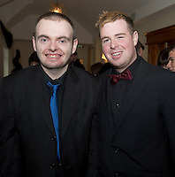 Stephen Joyce and Peter Collins Nuig at the Ability West Best Buddy Ball and award night at the Menlo Park Hotel Galway. Photo:Andrew Downes.