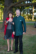 TESSA BALFOUR; RODDY BALFOUR, Richard Taylor's 69th birthday party.  Whithurst Park. West Sussex.  3 August 2013