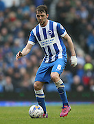 Dale Stephens, Brighton midfielder during the Sky Bet Championship match between Brighton and Hove Albion and Norwich City at the American Express Community Stadium, Brighton and Hove, England on 3 April 2015.