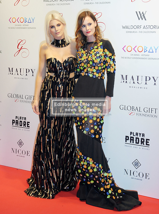 The Global Gift Gala Red Carpet, Wednesday 17th May 2017<br /> <br /> Ashley James and Charlotte De Carle arrive on the red carpet<br /> <br /> The Global Gift Gala is a unique international initiative from the Global Gift Foundation, a charity founded by Maria Bravo that is dedicated to philanthropic events worldwide; to help raise funds and make a difference towards children and women across the globe.<br /> <br /> Charities benefiting from the 2017 Edinburgh Global Gift Gala include the  Eva Longoria Foundation, which aims to improve education and provide entrepreneurial opportunities for young women;  Place2Be which provides emotional and therapeutic services in primary and secondary schools, building children's resilience through talking, creative work and play; and the Global Gift Foundation with the opening of their first 'CASA GLOBAL GIFT', providing medical treatments and therapy for children affected by rare disease.<br /> <br /> (c) Aimee Todd | Edinburgh Elite media