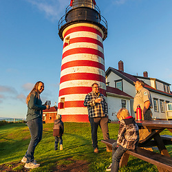 Park Ranger Shawn Goggin and his family live at the West Quoddy Head Lighthouse in Lubec, Maine.