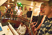 After the Star Clipper Talent Show, Chief Engineer David rocks the ship together with passengers until 3 A.M.