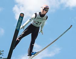 27.09.2015, Energie AG Skisprung Arena, Hinzenbach, AUT, FIS Ski Sprung, Sommer Grand Prix, Hinzenbach, im Bild Manuel Fettner (AUT) // during FIS Ski Jumping Summer Grand Prix at the Energie AG Skisprung Arena, Hinzenbach, Austria on 2015/09/27. EXPA Pictures © 2015, PhotoCredit: EXPA/ Reinhard Eisenbauer