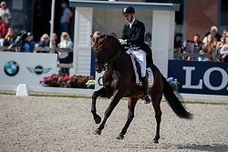 Andersen Bachmann Daniel, DEN, Blue Hors Zee Me Blue<br /> Longines FEI/WBFSH World Breeding Dressage Championships for Young Horses - Ermelo 2017<br /> © Hippo Foto - Dirk Caremans<br /> 05/08/2017