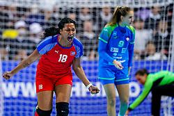 05-12-2019 JAP: Cuba - Slovenia, Kumamoto<br /> Fourth match groep A at 24th IHF Womenís Handball World Championship. Slovenia win 39 - 26 of Cuba / Lorena Aide Tellez Delgado #18 of Cuba
