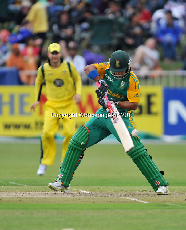 JP Duminy, South Africa. Cricket - 2011 One Day International - South Africa v Australia - Kingsmead Stadium - Durban<br /> <br /> &copy; Sabelo Mngoma/BackpagePix