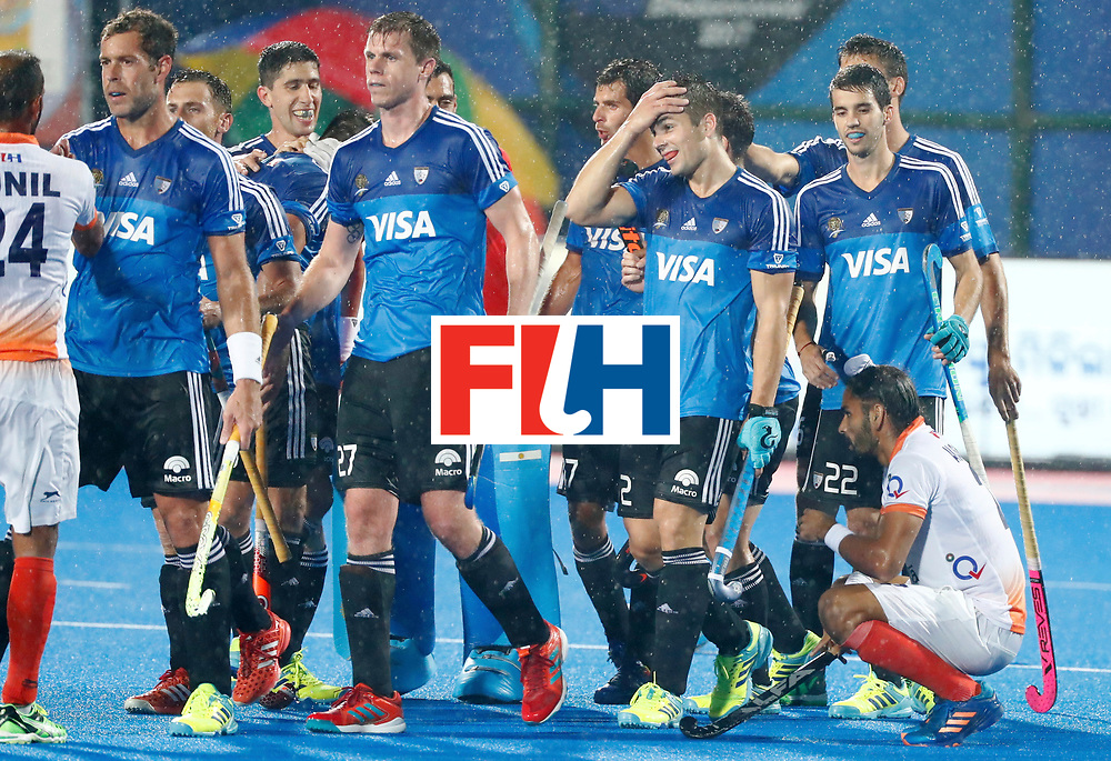 Odisha Men's Hockey World League Final Bhubaneswar 2017<br /> Match id:19<br /> India v Argentina<br /> Foto: Argentina wins the Semi Final from India <br /> <br /> COPYRIGHT WORLDSPORTPICS KOEN SUYK