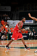 February 27, 2010: Farnold Degand of the North Carolina State Wolfpack in action during the NCAA basketball game between the Miami Hurricanes and the North Carolina State Wolfpack. The Wolfpack defeated the 'Canes 71-66.