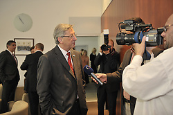 Jean-Claude Juncker, Luxembourg's prime minister, speaks to members of the press following a bilateral meeting with Jan Fischer, prime minister of the Czech Republic, at the permanent representation of the Czech Republic, in Brussels, Belgium, Thursday, June 18, 2009. (Photo © Jock Fistick)