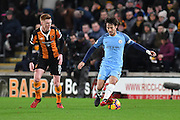 David Silva (21) Manchester City midfielder and Hull City midfielder Sam Clucas (11)  during the Premier League match between Hull City and Manchester City at the KCOM Stadium, Kingston upon Hull, England on 26 December 2016. Photo by Ian Lyall.