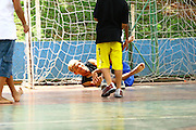 Belo Horizonte_MG, Brasil...Deficiente jogando futebol na  Escola Municipal Helio Pelegrino...The disability boy playing soccer in the Escola Municipal Helio Pelegrino...FOTO: BRUNO MAGALHAES /  NITRO