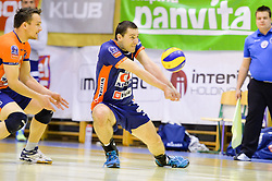 Andrej Flajs of ACH during volleyball game between OK Panvita Pomgrad and ACH Volley in 2nd semifinal match of  Slovenian National Championship 2015, on April 5, 2015 in Murska Sobota, Slovenia. Photo by Mario Horvat / Sportida